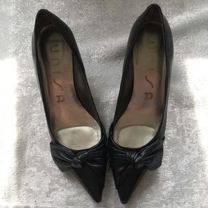 ❤️50%OffBundles Unisa black leather heels size 9M